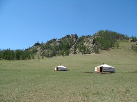 Ger Camp in the Mongolian steppe