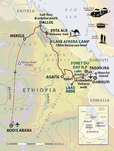Resultado de imagen de map of danakil depression